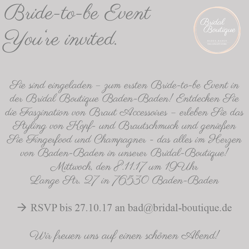 Flyer Bride-to-be Event