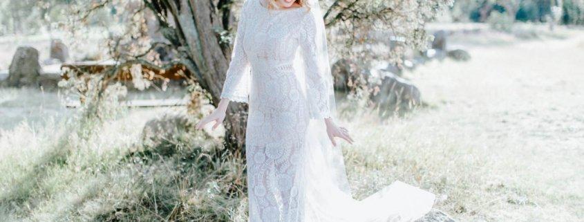 Wunderschöner Schleier mit Brautkleid